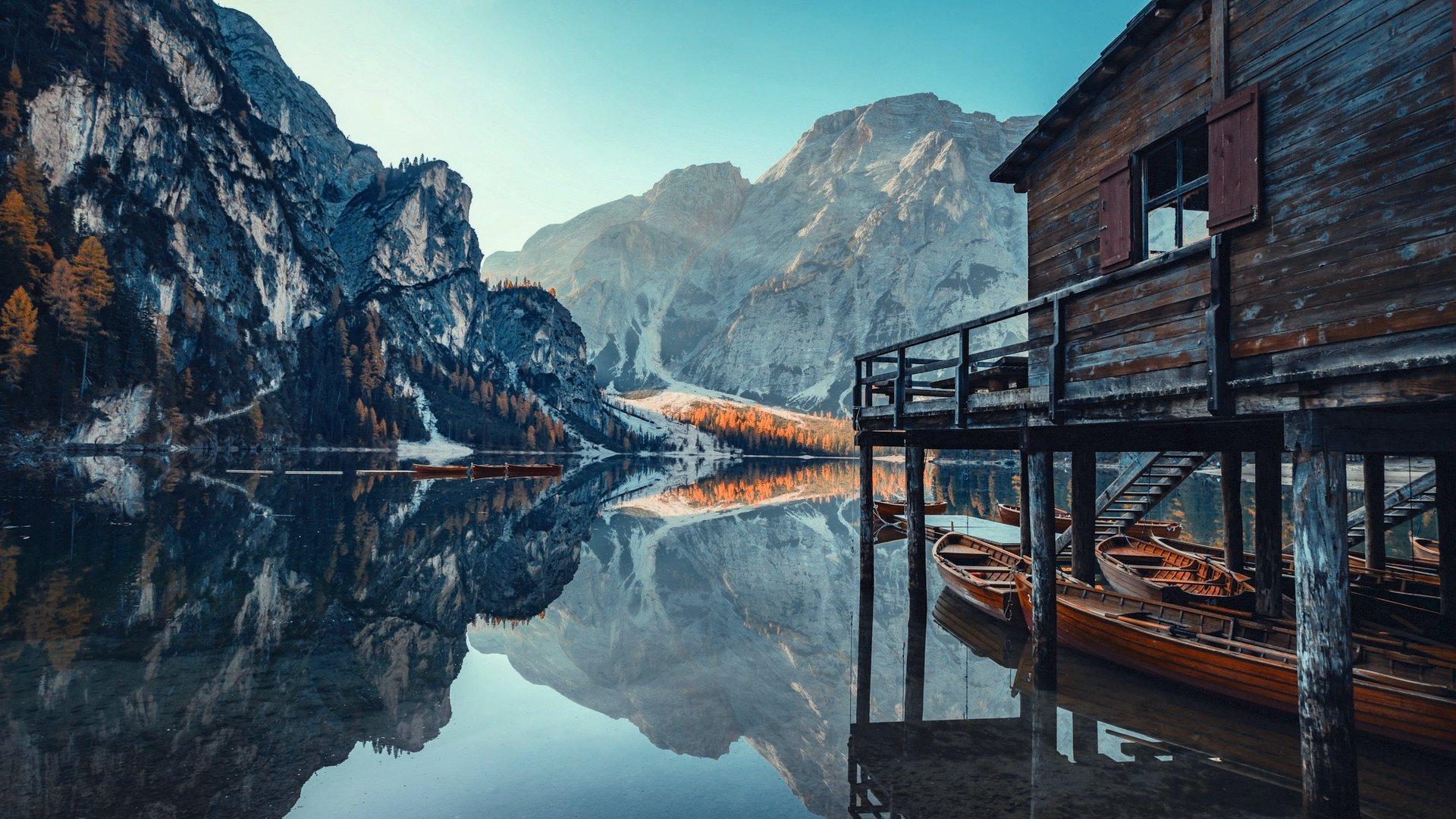 La Palafitta Lago Di Braies Noleggio Barche Shooting